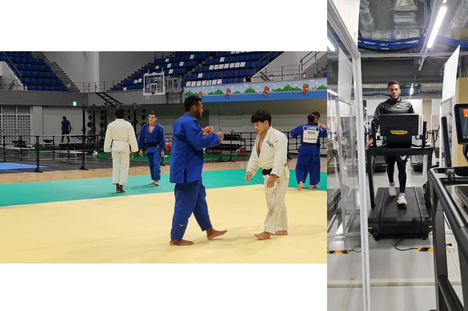 El judoca Robert Florentino, en una sesión de entrenamiento en Japón.